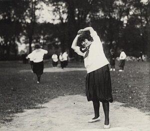 Black & White Photo Of Vintage Womens Softball