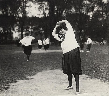 Black & White Photo Of Vintage Womens Softball