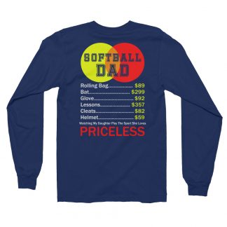 Softball Dad Credit Logo Fastpitch Priceless Long Sleeve T-Shirt