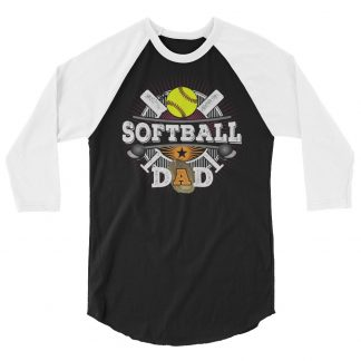 Softball Dad Fastpitch 3/4 Sleeve Raglan Shirt