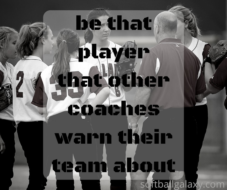Be That Player That Coaches Warn About Softball Meme