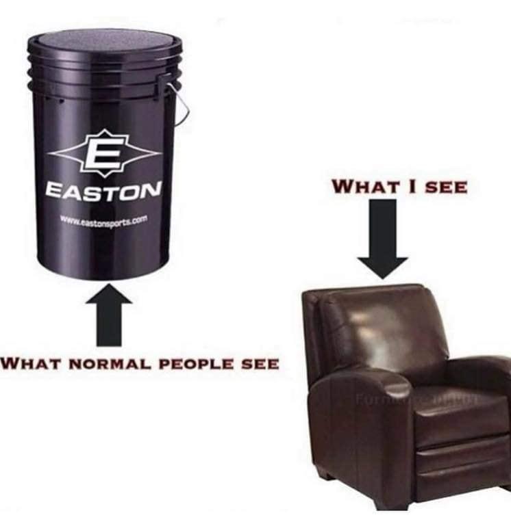 Funny Softball Bucket Seat Photo