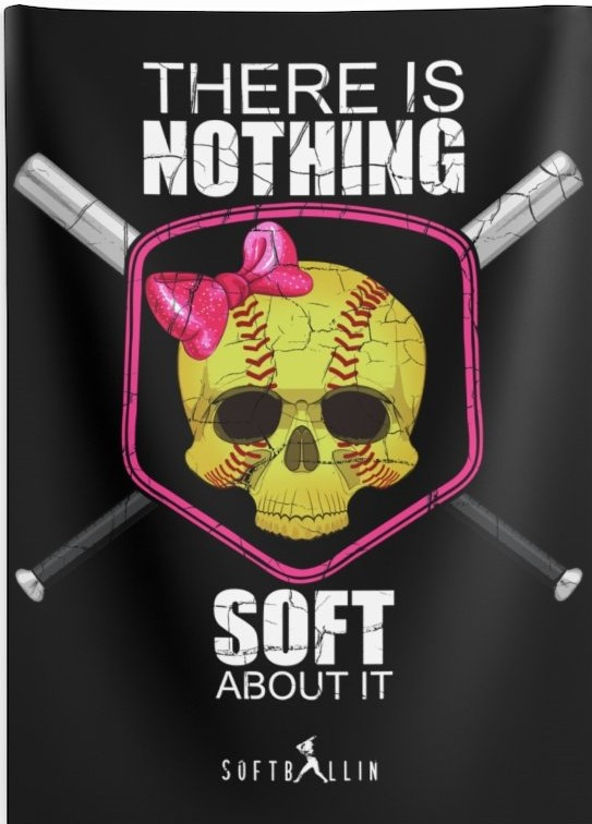 There is nothing soft about it softball wall tapestry