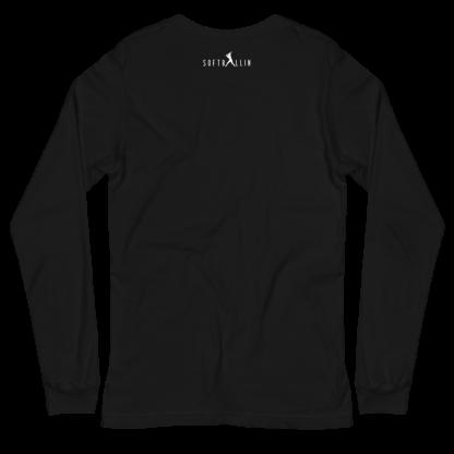 Straight Outta Softball Practice Women's Long Sleeve Shirt Back Softballin Logo