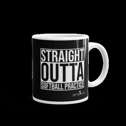 Straight Outta Softball Practice Coffee Tea Mug