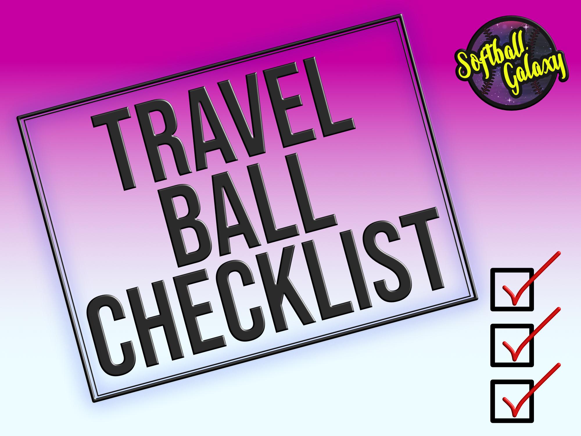 Travel Ball Checklist for Softball